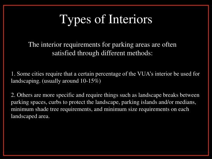 Types of Interiors