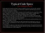 typical code specs1