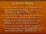 academia petrina