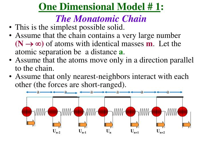 One Dimensional Model # 1