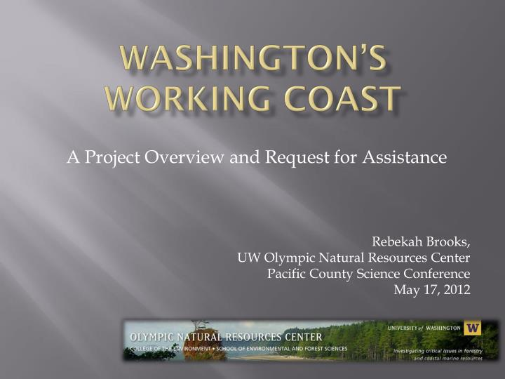 washington s working coast