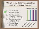 which of the following countries were in the triple entente