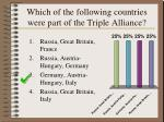 which of the following countries were part of the triple alliance