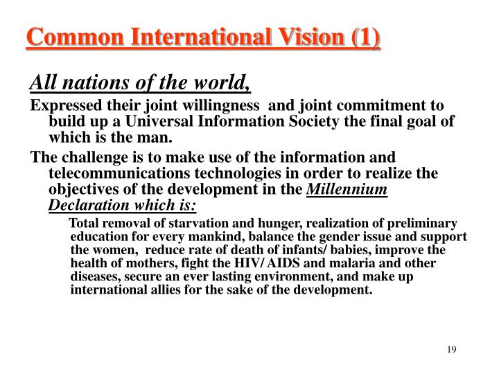 Common International Vision (1)