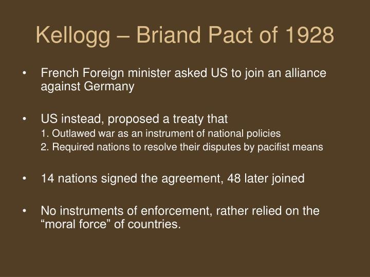 Kellogg – Briand Pact of 1928