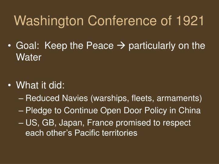 Washington Conference of 1921