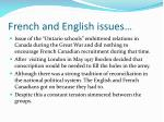 french and english issues