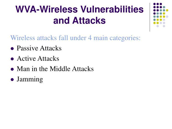 WVA-Wireless Vulnerabilities and Attacks