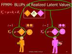 fpmm blups of realized latent values1