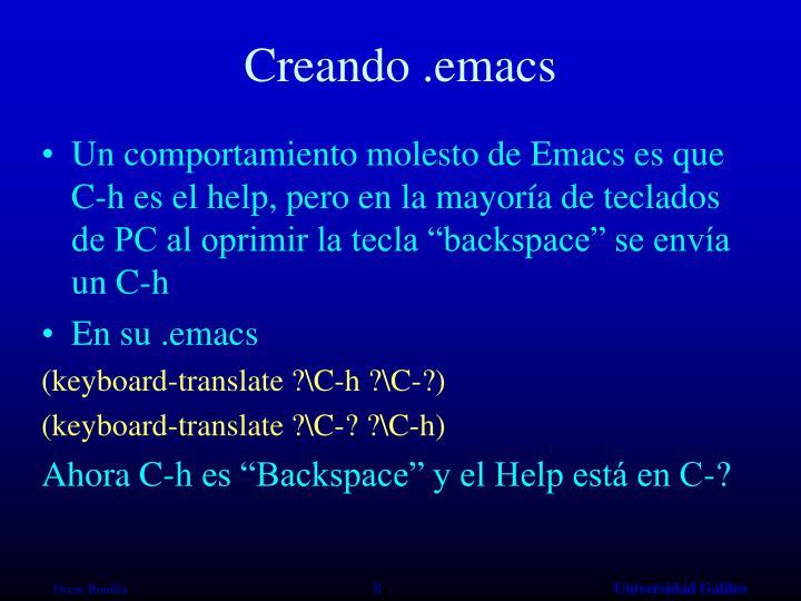 Creando .emacs