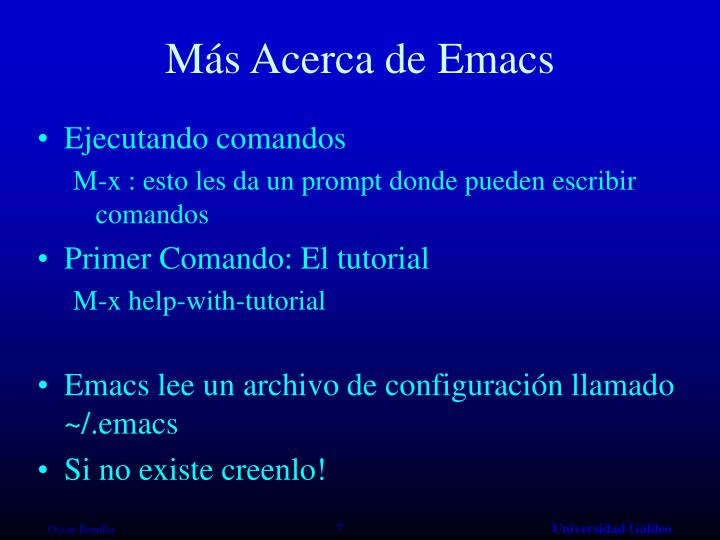 Más Acerca de Emacs