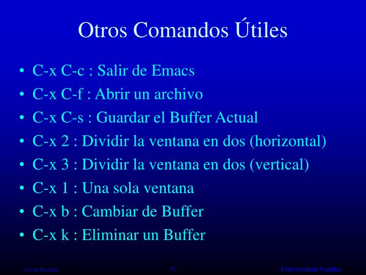 Otros Comandos Útiles