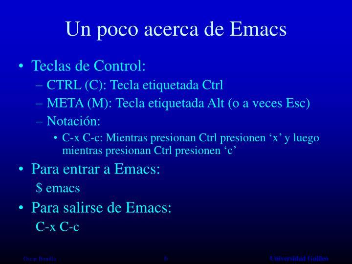 Un poco acerca de Emacs