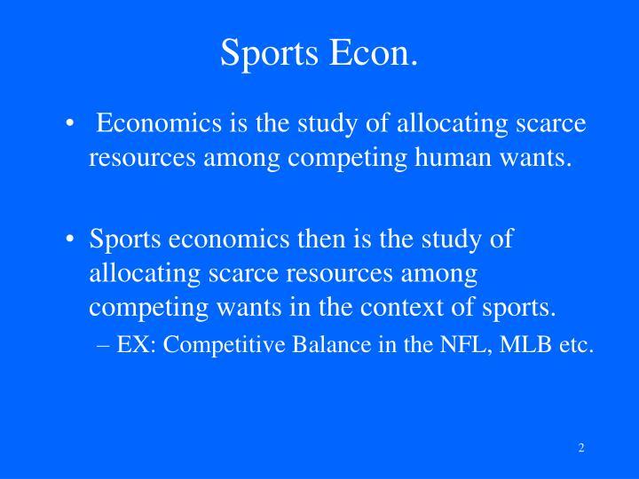 Sports Econ.