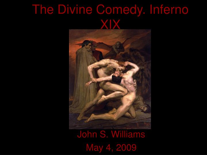 The divine comedy inferno xix