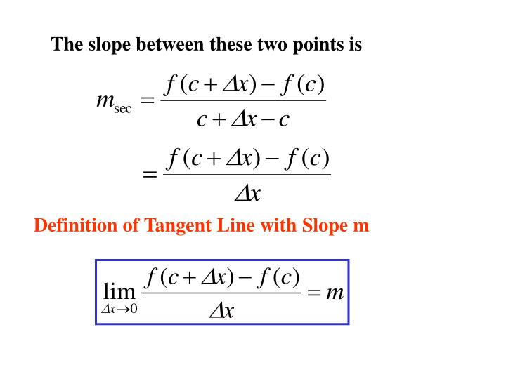 The slope between these two points is
