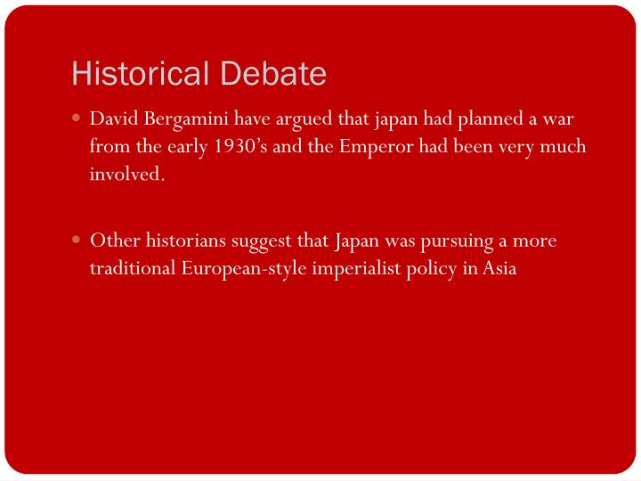 Historical Debate