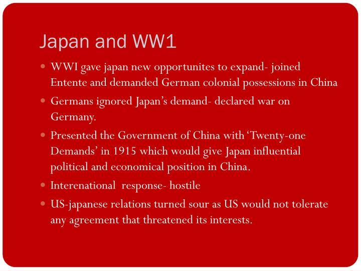 Japan and WW1