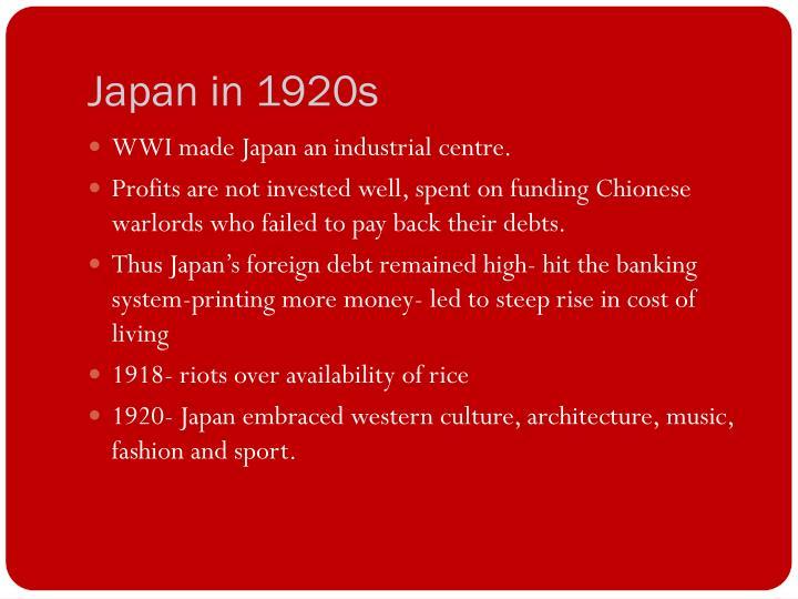 Japan in 1920s