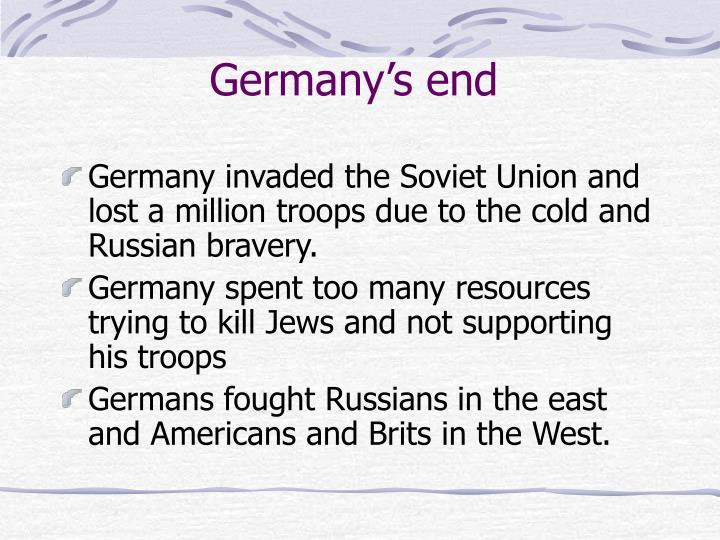 Germany's end
