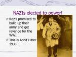 nazis elected to power