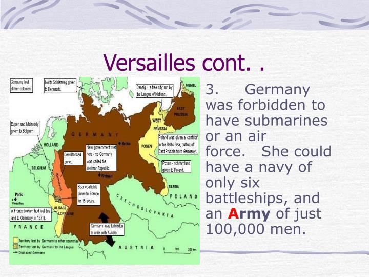 Versailles cont. .