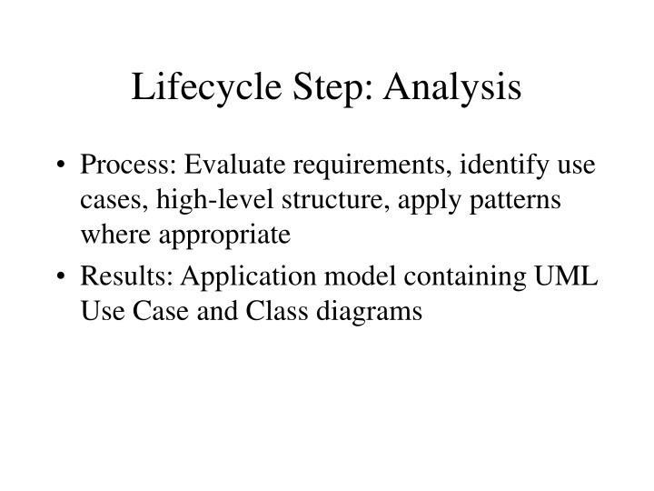 Lifecycle Step: Analysis