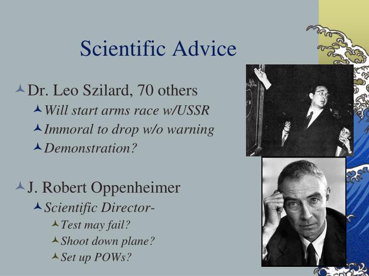 Scientific Advice
