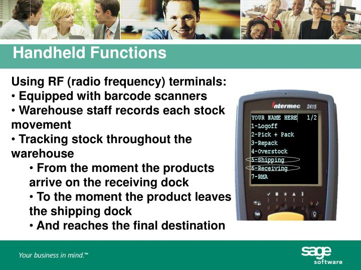 Using RF (radio frequency) terminals: