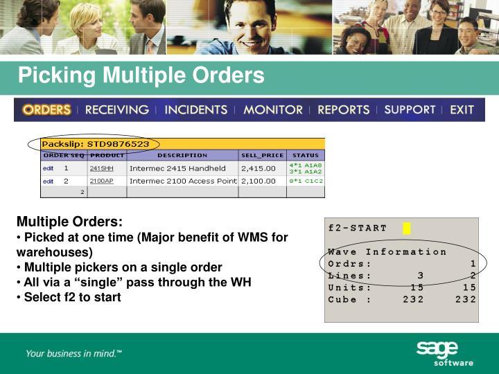 Multiple Orders: