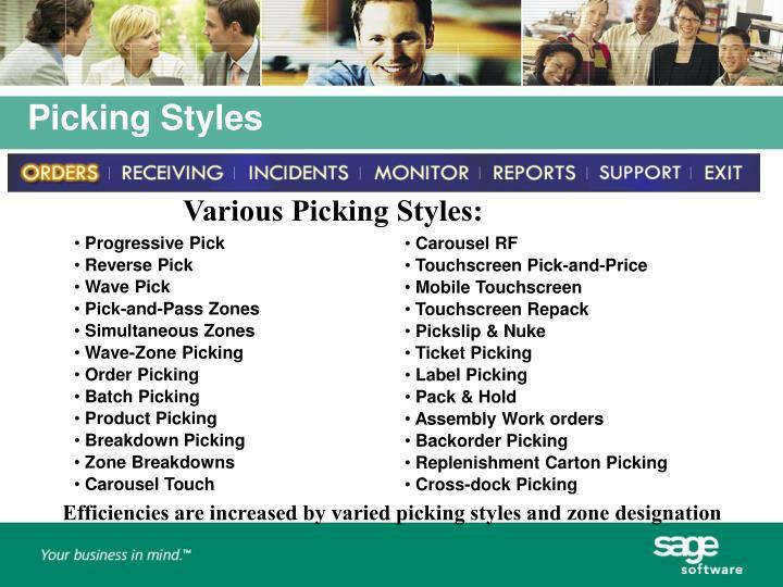 Various Picking Styles:
