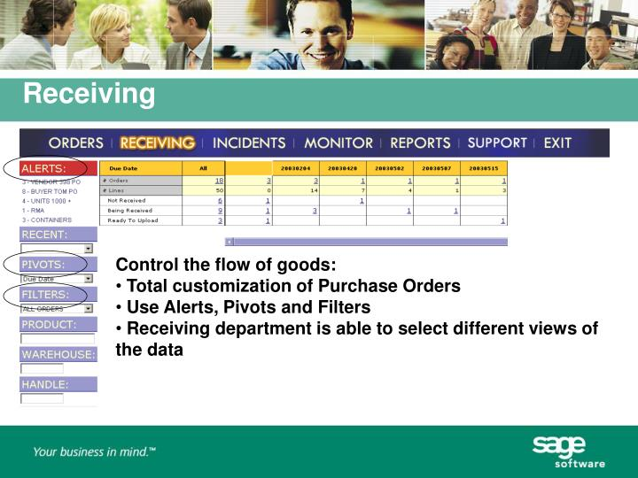 Control the flow of goods: