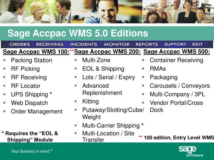 Sage Accpac WMS 100: