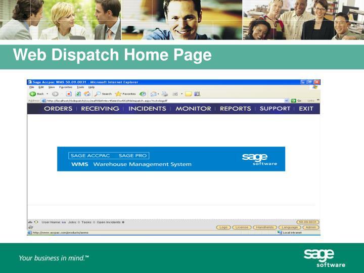 Web Dispatch Home Page
