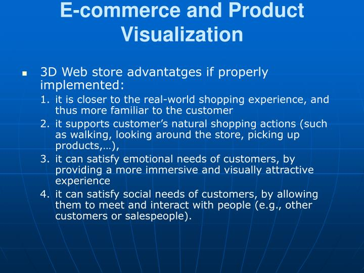 E-commerce and Product Visualization