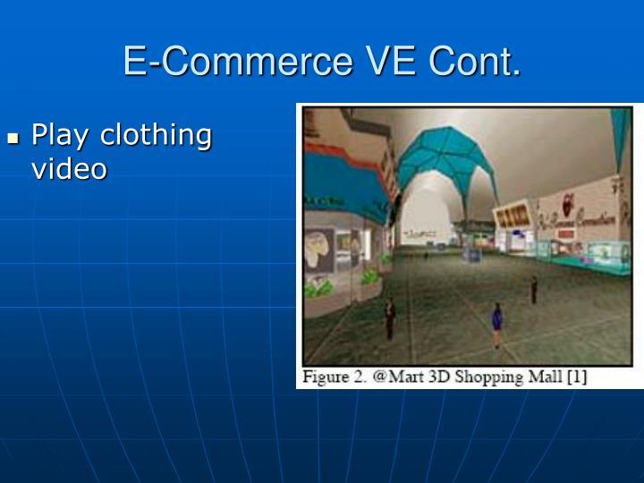 E-Commerce VE Cont.