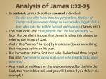 analysis of james 1 22 254