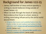 background for james 1 22 25