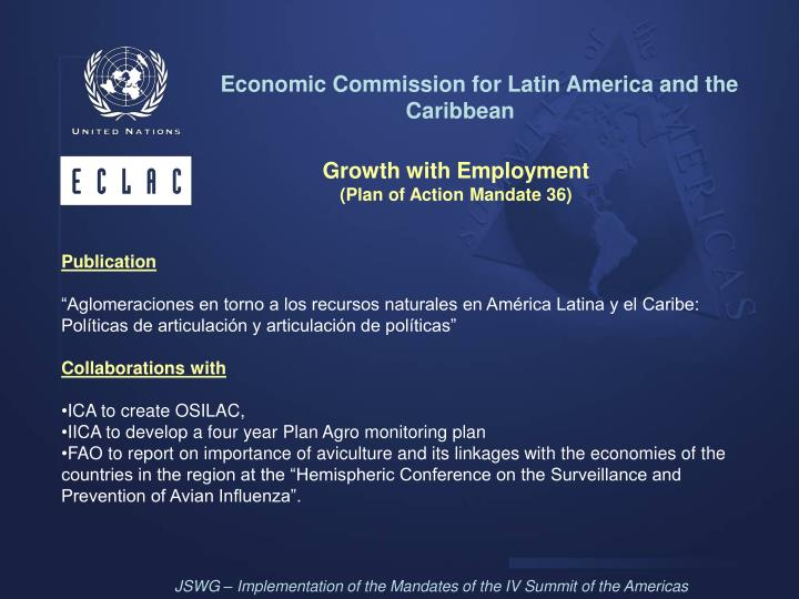 Economic Commission for Latin America and the Caribbean