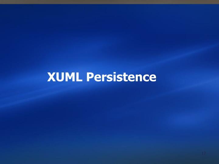 XUML Persistence