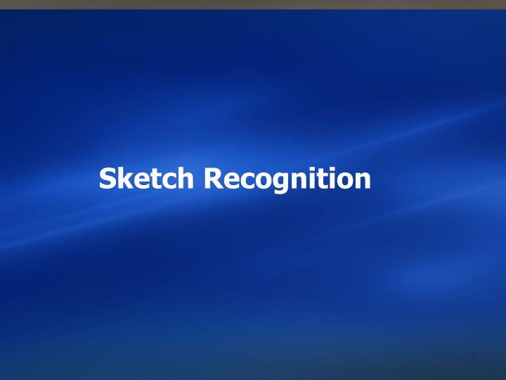Sketch Recognition