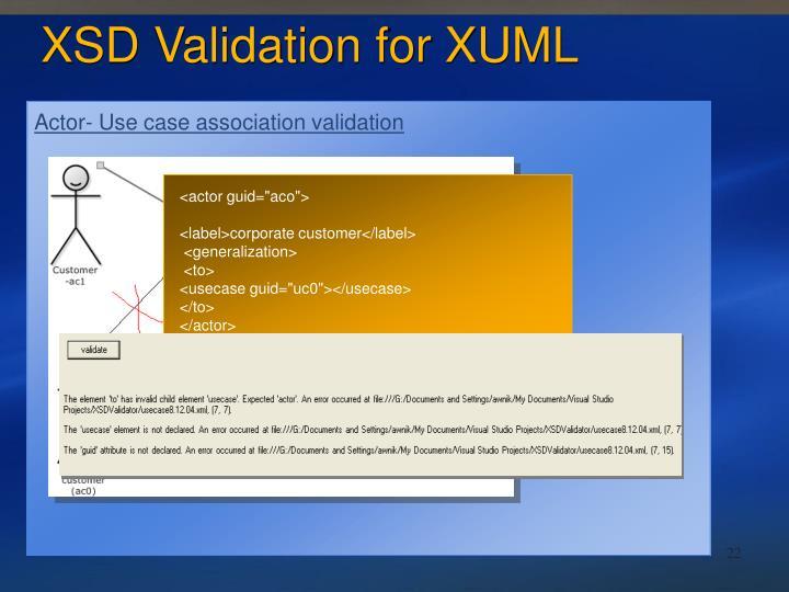 Actor- Use case association validation