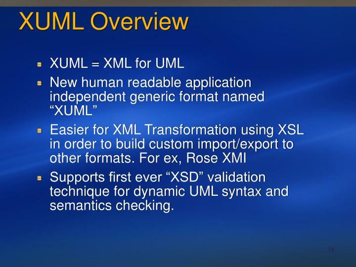 XUML Overview