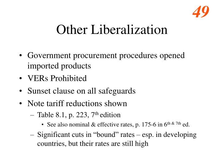 Other Liberalization