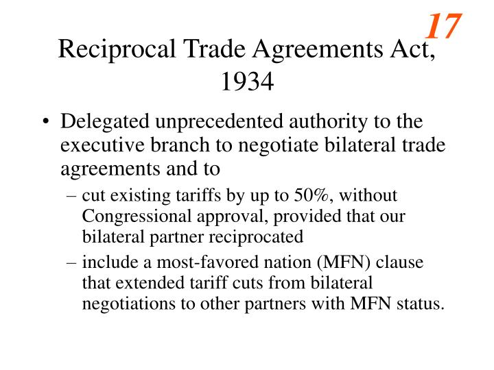 Reciprocal Trade Agreements Act, 1934
