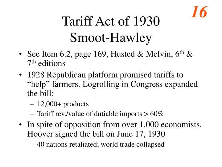 Tariff Act of 1930
