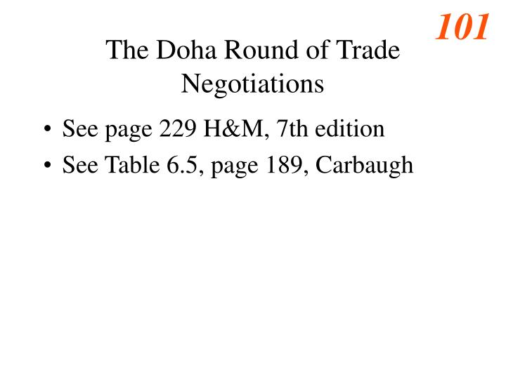 The Doha Round of Trade Negotiations