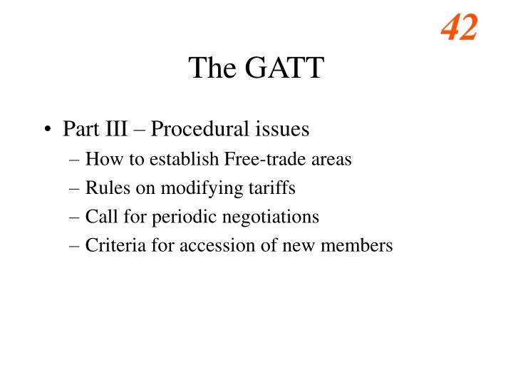 The GATT
