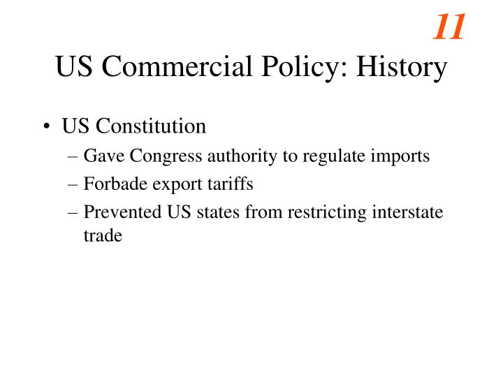 US Commercial Policy: History