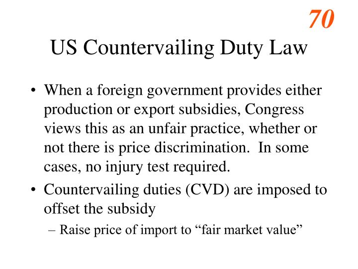 US Countervailing Duty Law